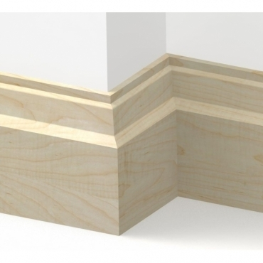Solid Maple Lambs Tongue Skirting 3 metre