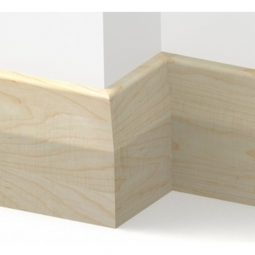 Solid Maple Long Chamfer Skirting 3 metre