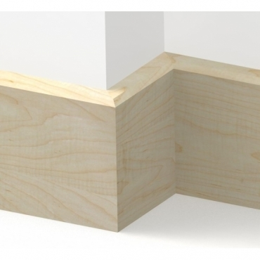 Solid Maple Mini Chamfered Skirting 3 metre
