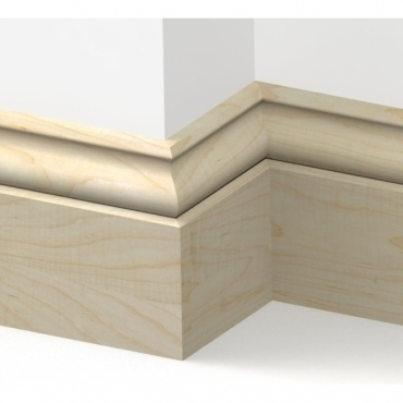 Solid Maple Ogee Skirting 3 metre