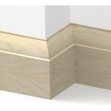 Solid Maple Ovolo Skirting 3 metre