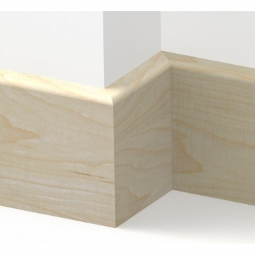 Solid Maple Pencil Round Skirting 3 metre