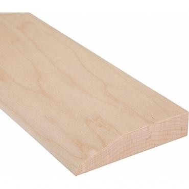 Solid Maple Reducing Ramp Door Threshold 120mm Wide