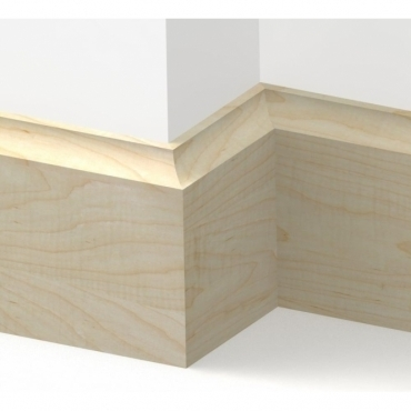 Solid Maple Scotia Skirting 3 metre
