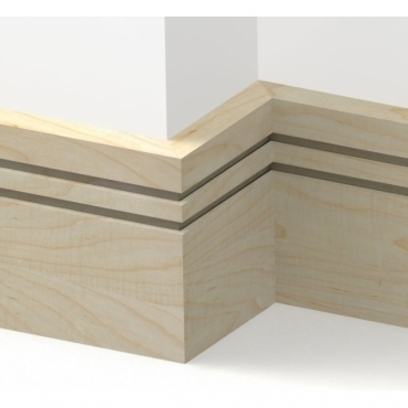 Solid Maple Square Double Edge Skirting 3 metre