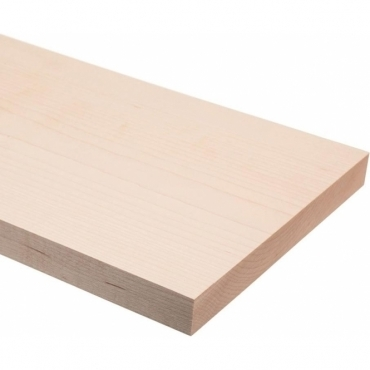 Solid Maple Square Edge Shelf 1 metre x 20mm