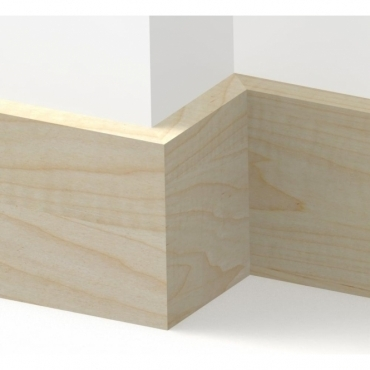 Solid Maple Square Edge Skirting 3 metre