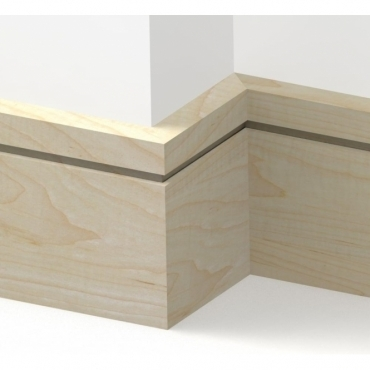 Solid Maple Square Single Edge Skirting 3 metre