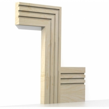 Solid Maple Square Triple Edge Architrave Sets