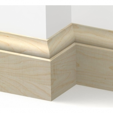 Solid Maple Tulip Skirting 3 metre