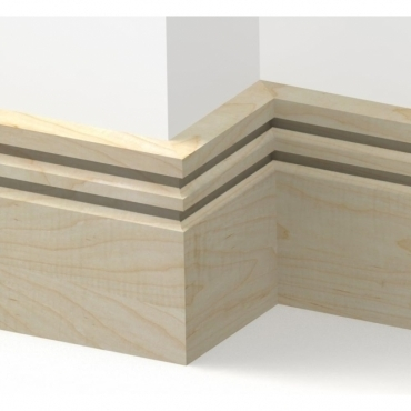 Solid Maple Wells Skirting 3 metre