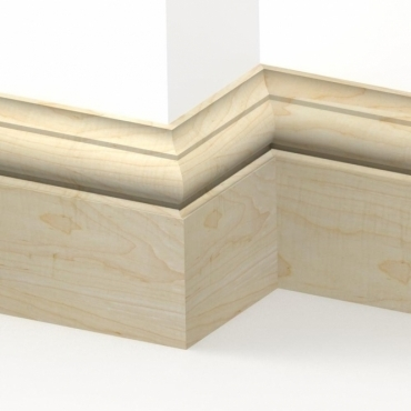 Solid Maple Winchester Skirting 3 metre
