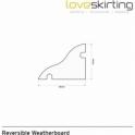 Solid Maranti Weatherboard Reversible