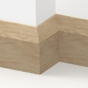 Solid Oak Bevel Skirting 3 metre