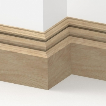 Solid Oak Bromley Skirting 3 metre
