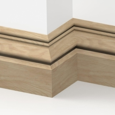 Solid Oak Buckingham Skirting 3 metre
