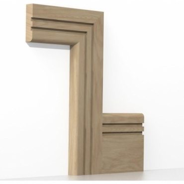 Solid Oak Bullnose Double Edge Architrave Sets