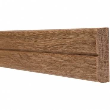 Solid Oak Bullnose Single Groove Dado Rail 3 Metre