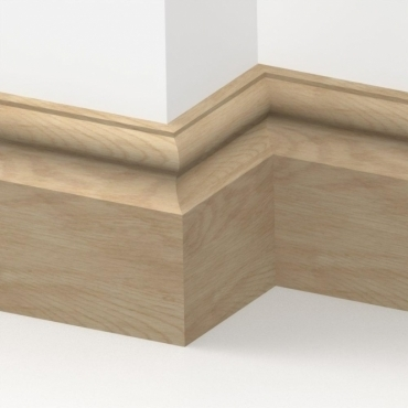 Solid Oak Cambridge Skirting 3 metre