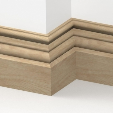 Solid Oak Canterbury Skirting 3 metre