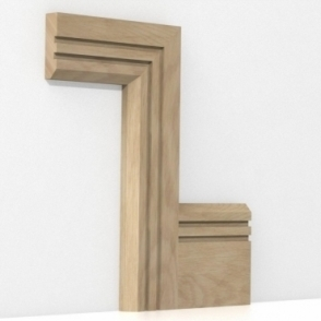 Solid Oak Chamfered Double Edge Architrave Sets