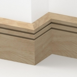 Solid Oak Chamfered Double Edge Skirting 3 metre