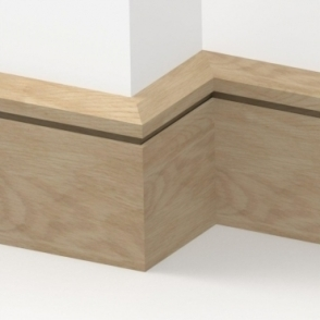 Solid Oak Chamfered Single Edge Skirting 3 metre