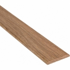 Solid Oak Flat Cover Beading Threshold Strip 40MM x 5MM