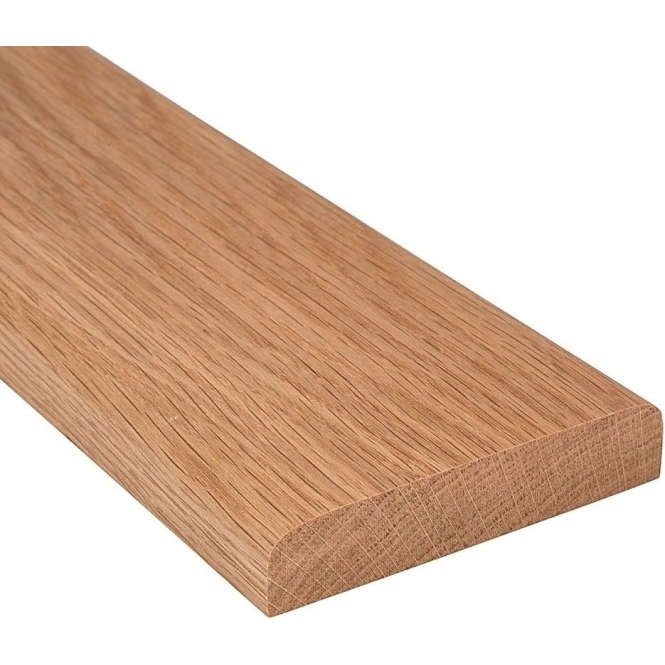Solid Oak Flat Door Threshold 240mm Wide