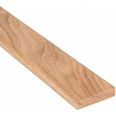 Solid Oak Flat Edge Cover Beading Threshold Strip 160MM x 8MM
