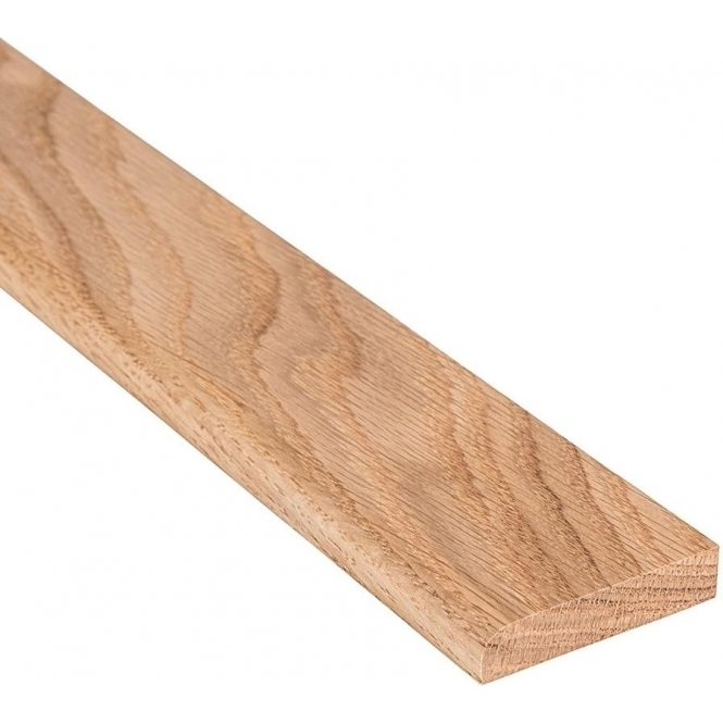 Solid Oak Flat Edge Cover Beading Threshold Strip 60MM x 8MM
