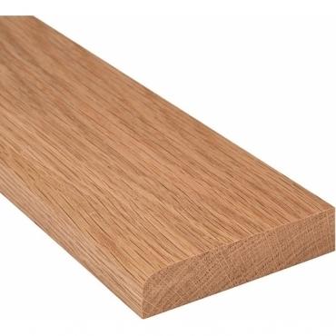 Solid Oak Flat Edge Door Threshold 144mm Wide