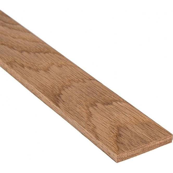 Solid Oak Flat Square Edge Beading Strip 110MM x 7MM