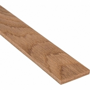 Solid Oak Flat Square Edge Beading Strip 20MM x 5MM