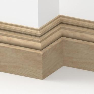 Solid Oak Heritage Skirting 3 metre