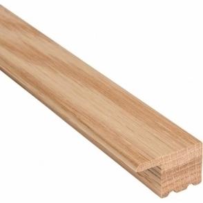 Solid Oak L Section Door Threshold 2.4m