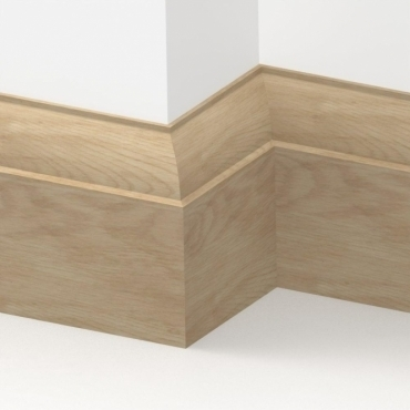 Solid Oak Ovolo Skirting 3 metre