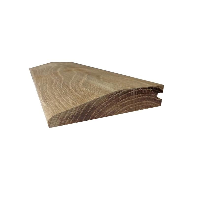 Solid Oak Reducing Ramp Door Threshold 95mm Wide From