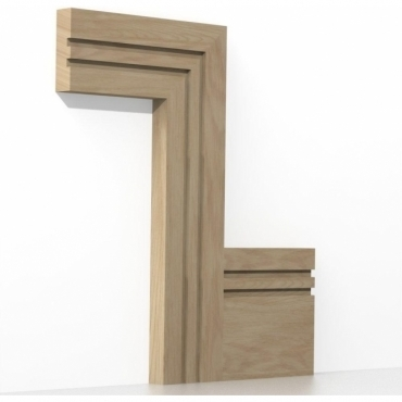 Solid Oak Square Double Edge Architrave Sets