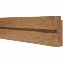Solid Oak Square Single Edge Picture Rail 3 Metre