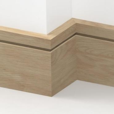 Solid Oak Square Single Edge Skirting 3 metre