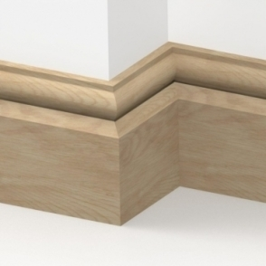 Solid Oak Torus Skirting 3 metre