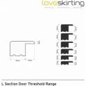 Solid Oak White Primed L Section Door Threshold 0.9m