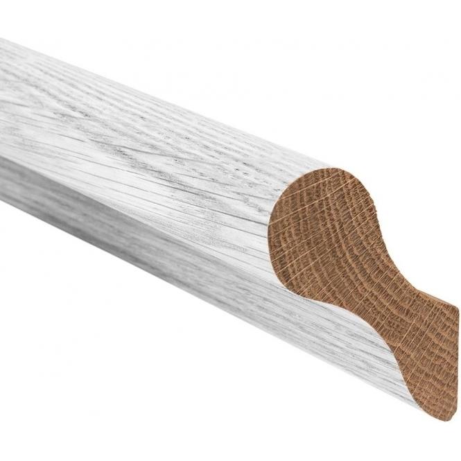 Solid Oak White Primed Pig's Ear Handrail 3.6 Metre