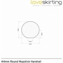 Solid Oak White Primed Round Mopstick Handrail 3.6 Metre
