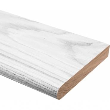Solid Oak White Primed Rounded Window Board 1 metre x 25mm