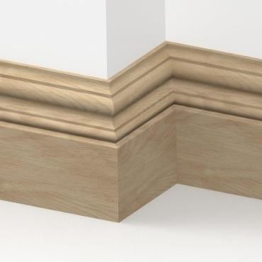 Solid Oak Windsor Skirting 3 metre