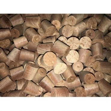 Solid Sapele 8mm Tapered Pellets