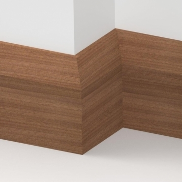 Solid Sapele Bevel Skirting 3 metre