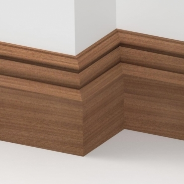 Solid Sapele Bromley Skirting 3 metre